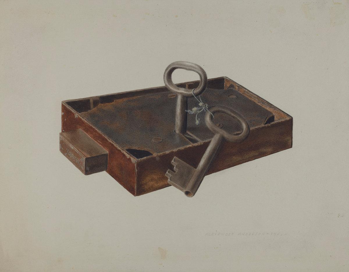 Bar Lock and Keys, Alexander Anderson, 1940