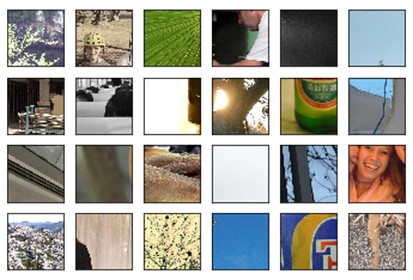 Grid of images after transformations are performed.