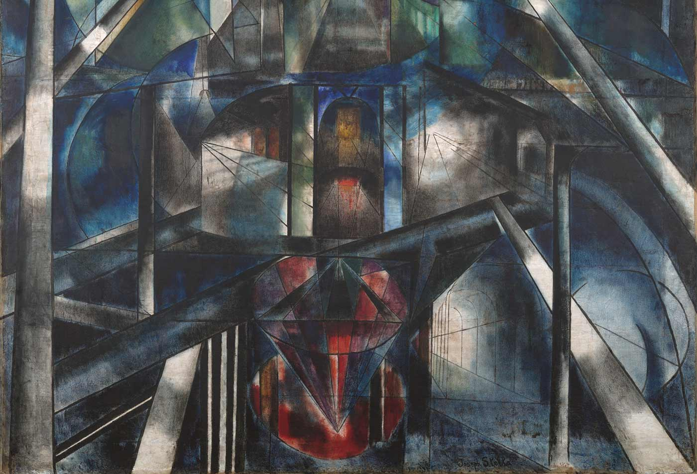 """Brooklyn Bridge,"" by Joseph Stella."