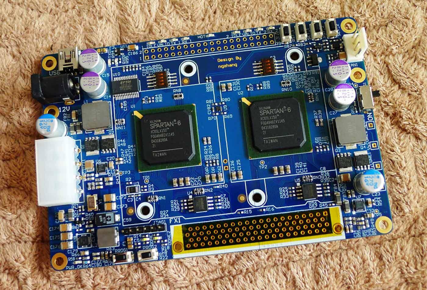 Lancelot, an FPGA-based bitcoin mining board.