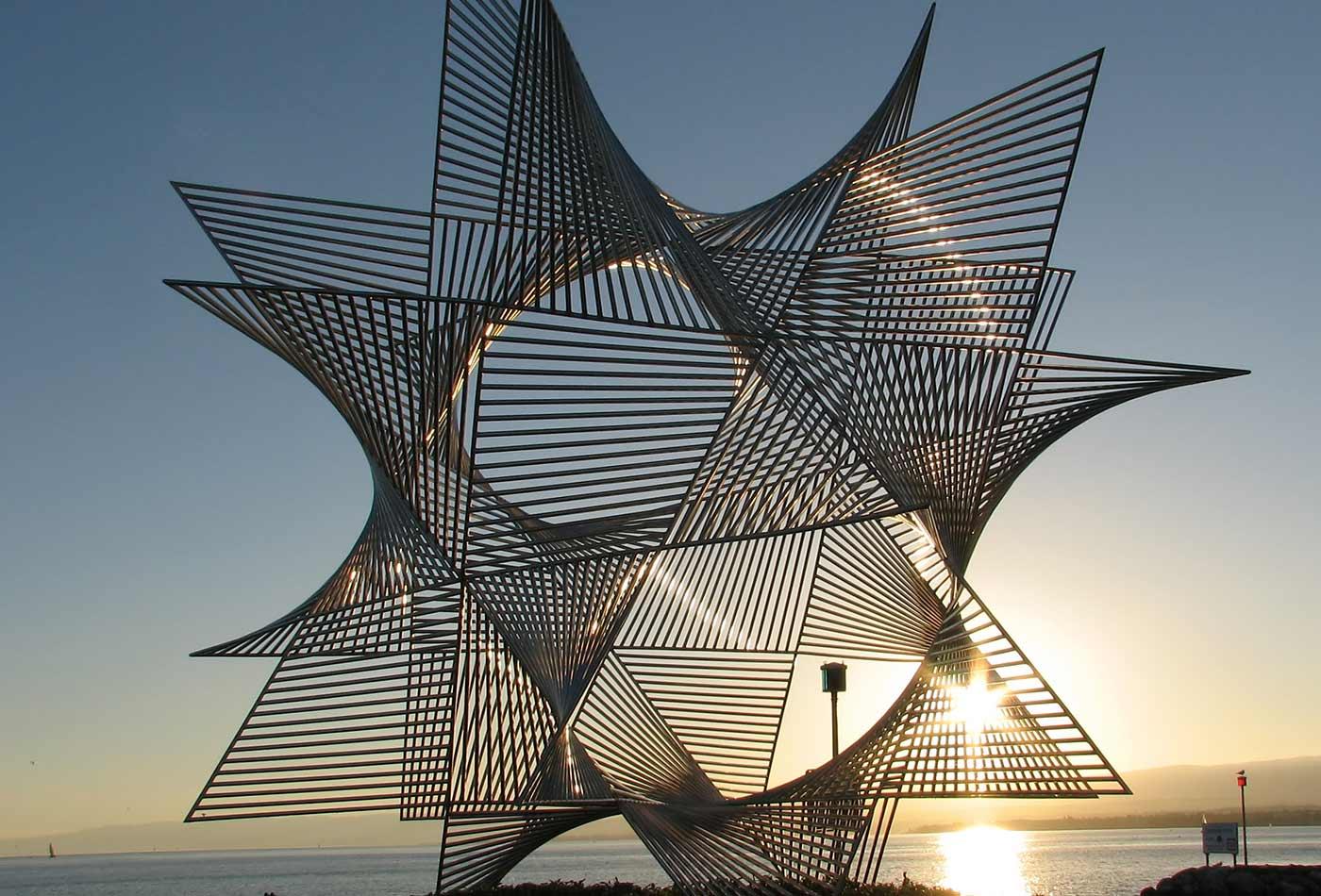 Lausanne Ouchy Skulptur.