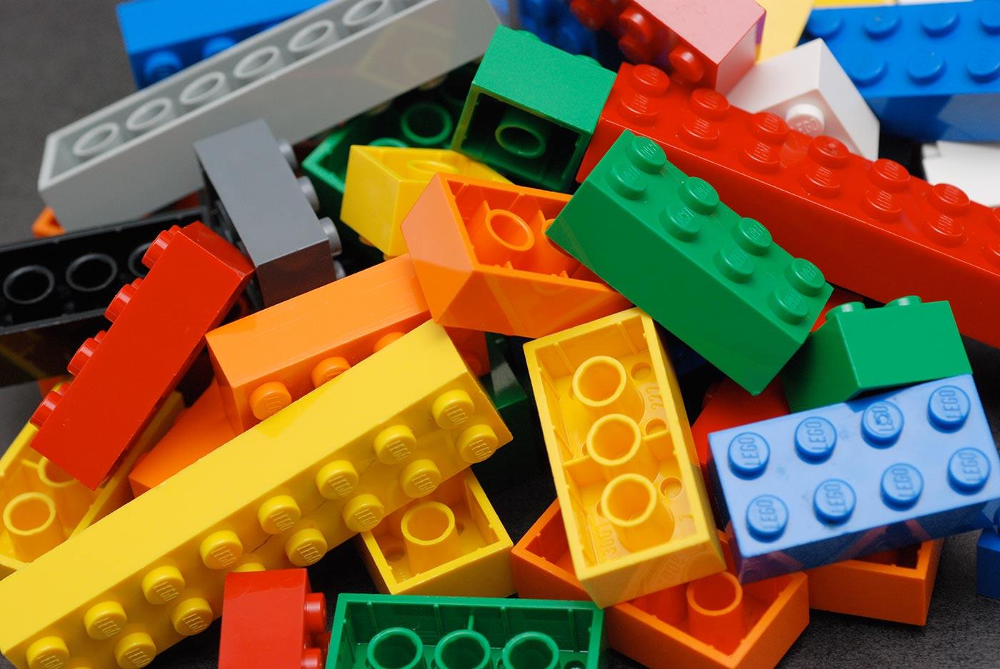 A pile of Lego bricks.