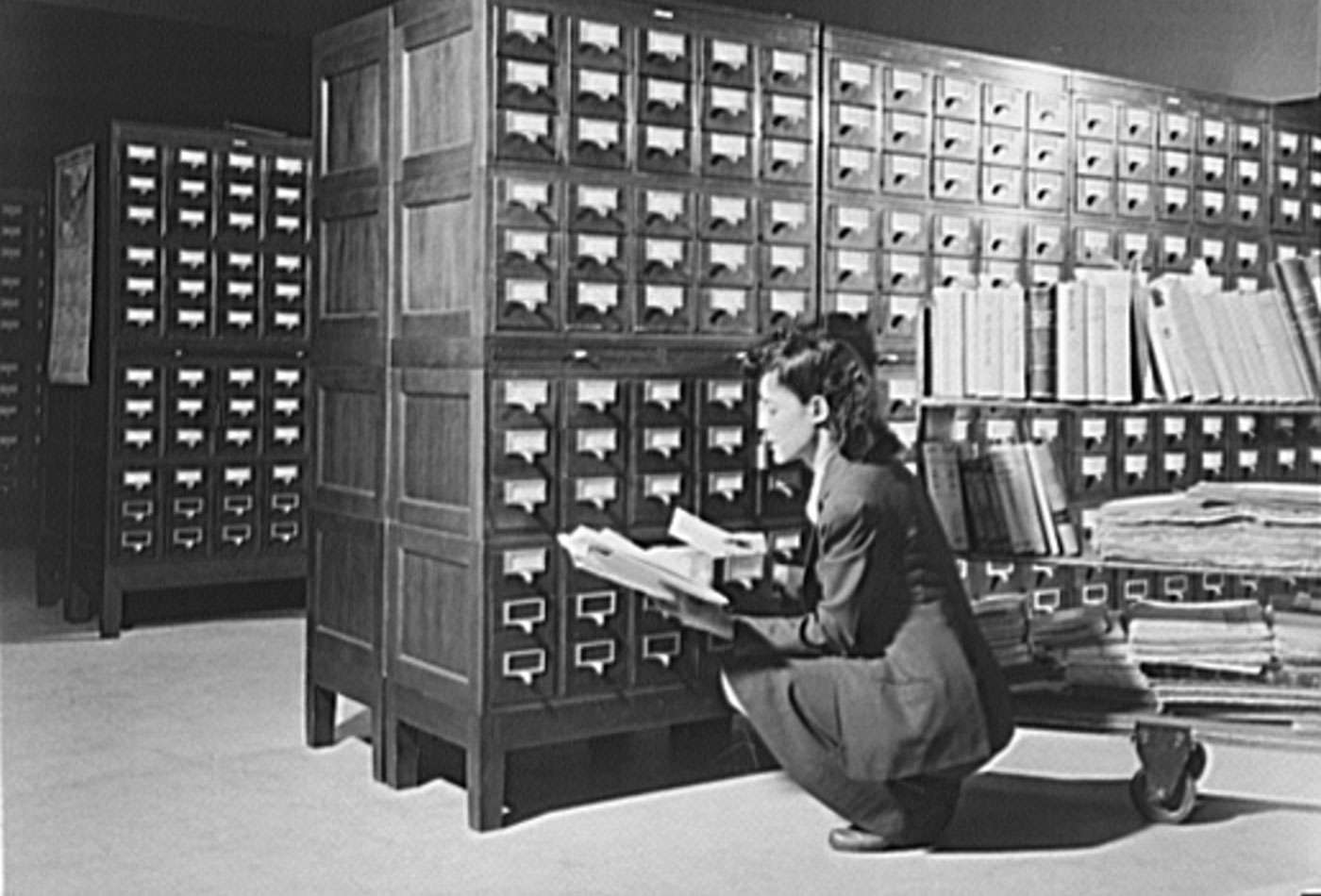 Card catalog at the Library of Congress