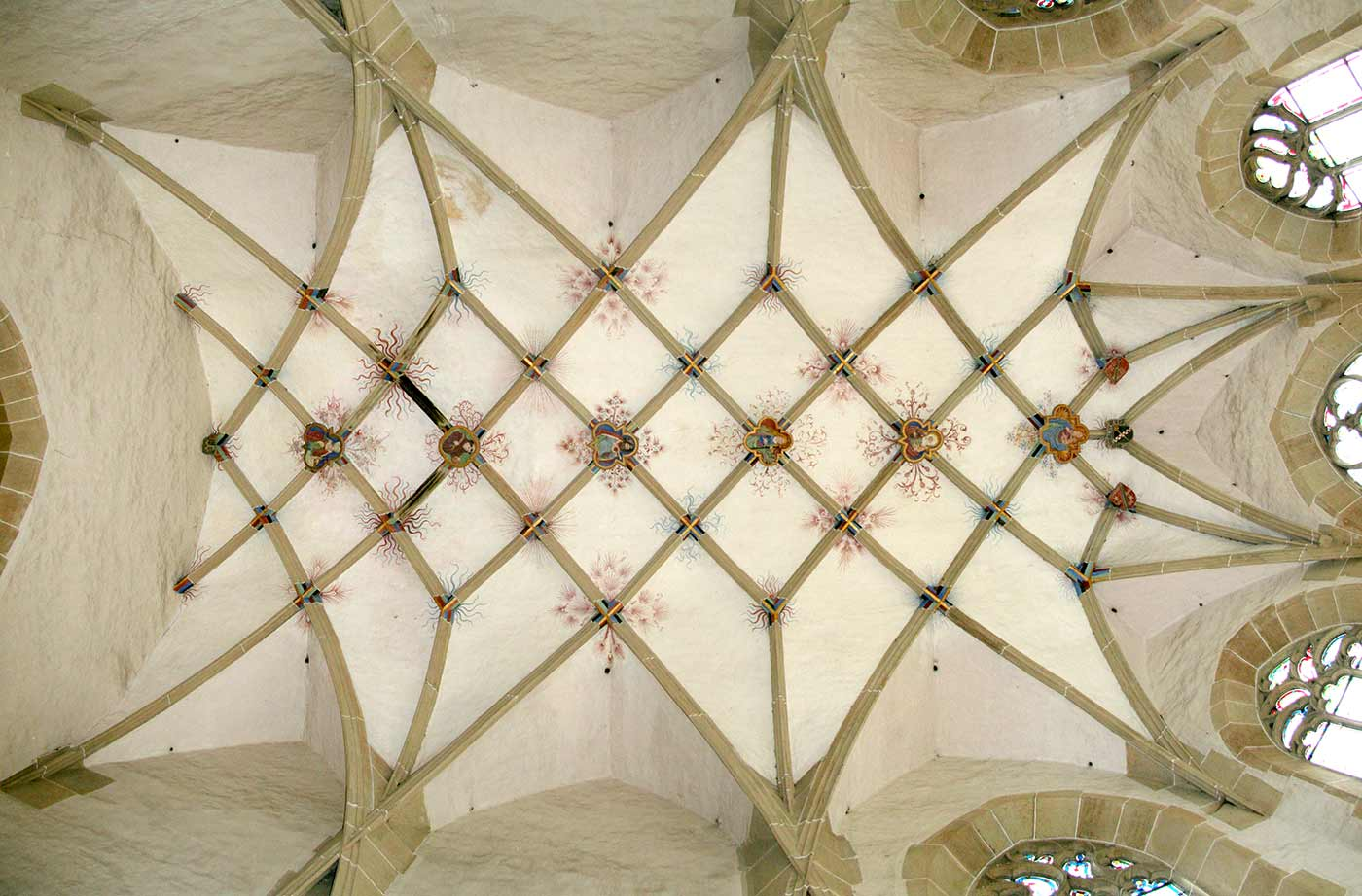 Rib-vault ceiling, with Lierne ribs, of the Liebfrauenkirche, Mühlacker 1482.
