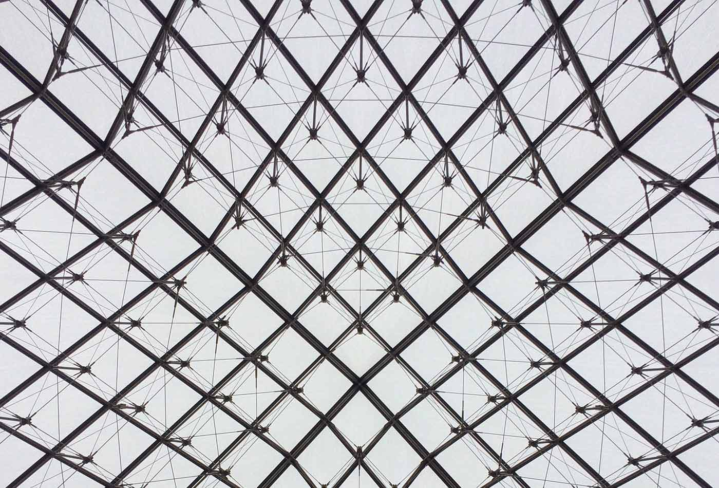Louvre mesh perspective