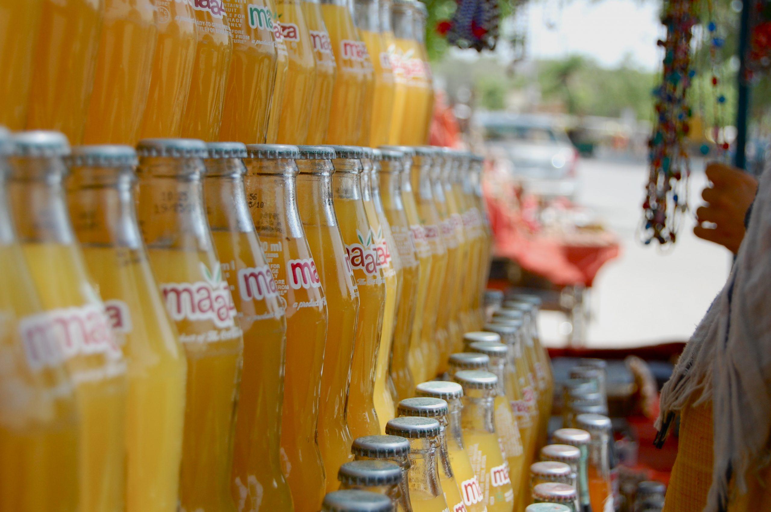 Maaza bottles