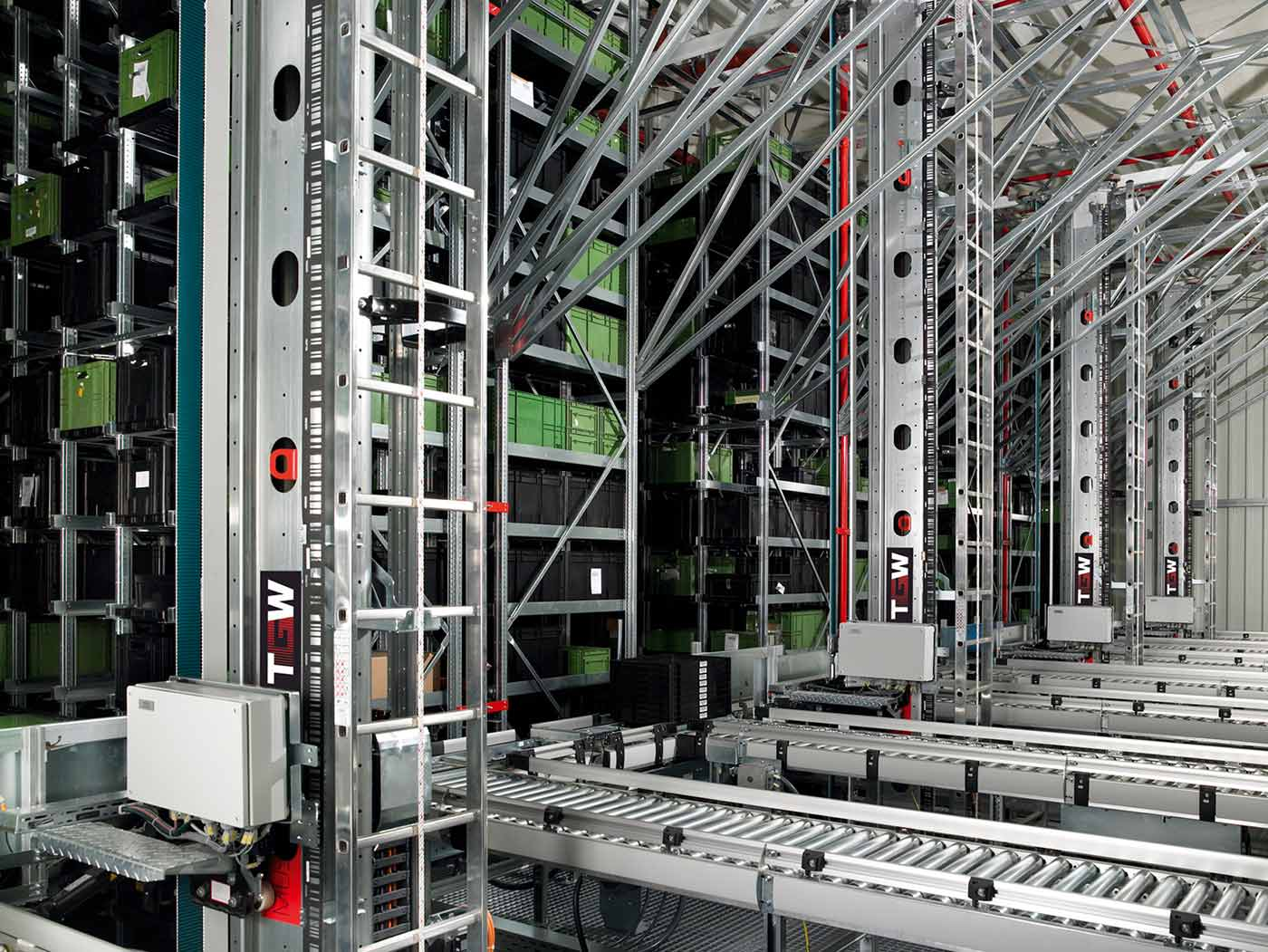 Automated storage and retrieval system.