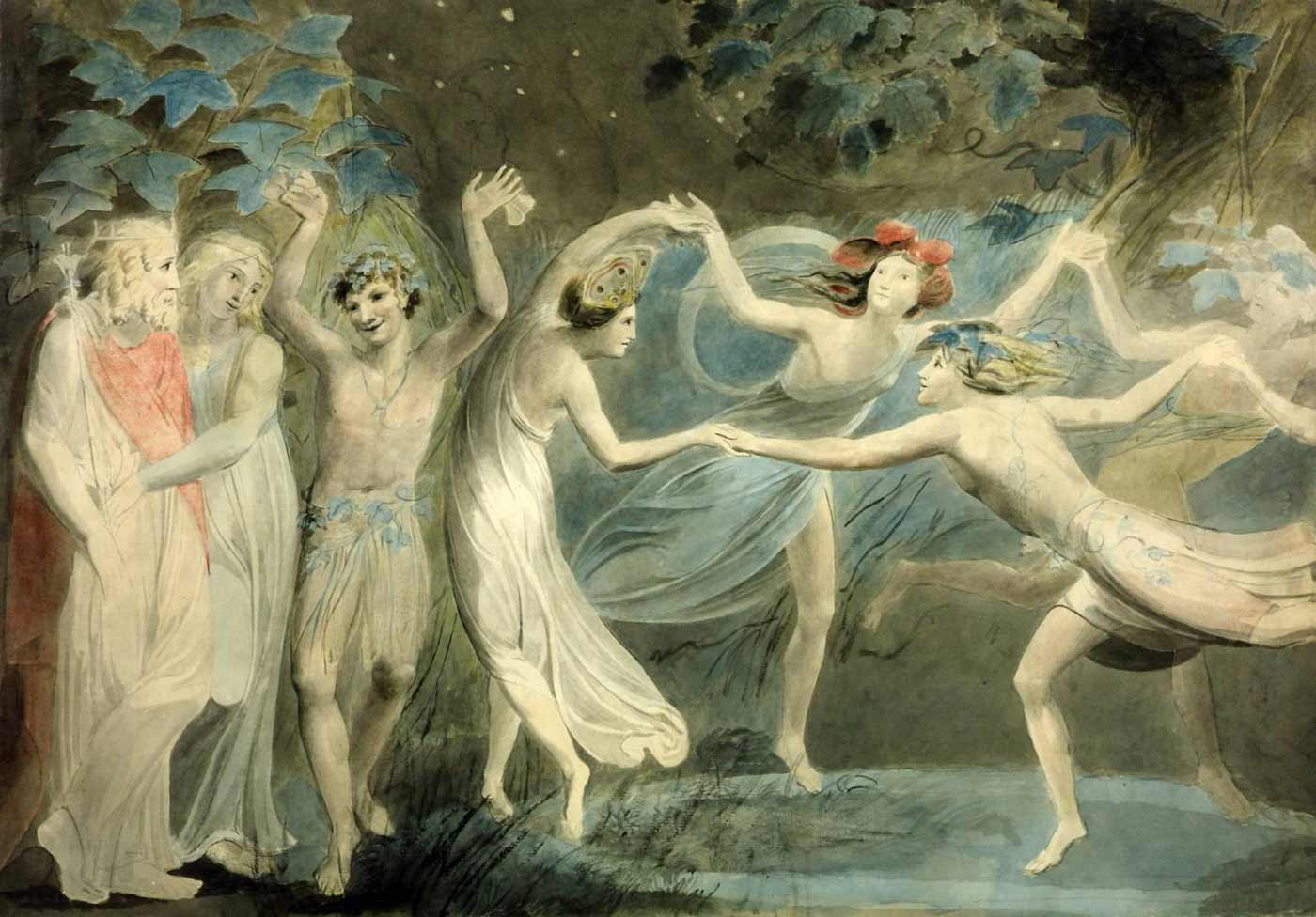 """Oberon, Titania and Puck with Fairies Dancing. From William Shakespeare's """"A Midsummer Night's Dream."""""""