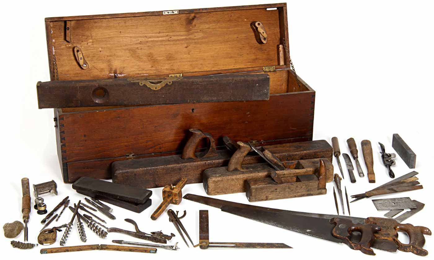 Minnesota State Capitol Woodworkers Toolbox, circa 1900