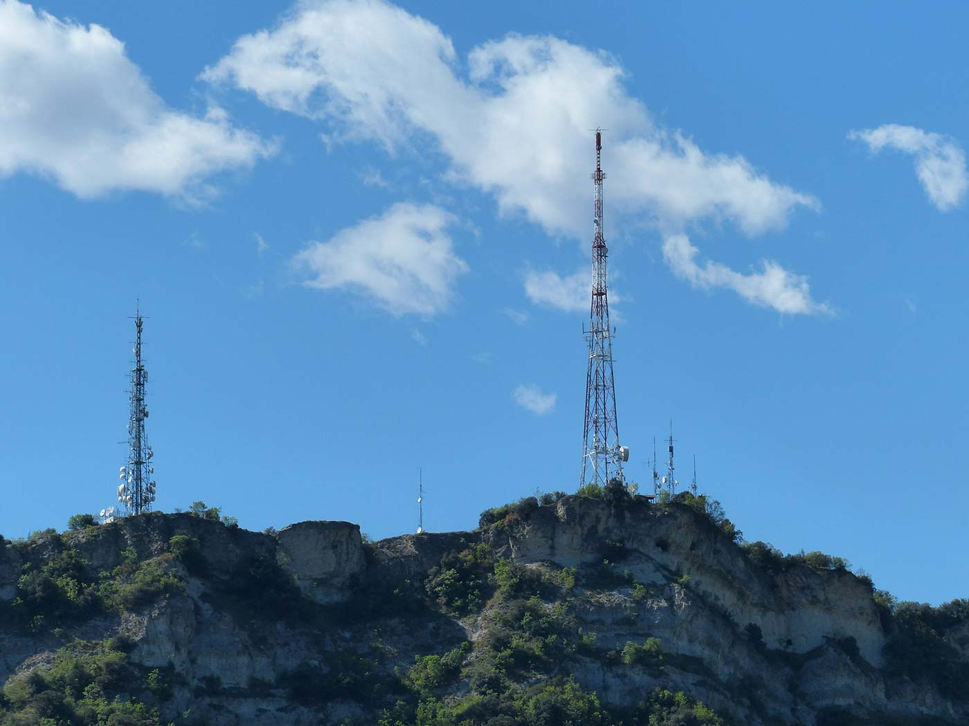 Towers on hill