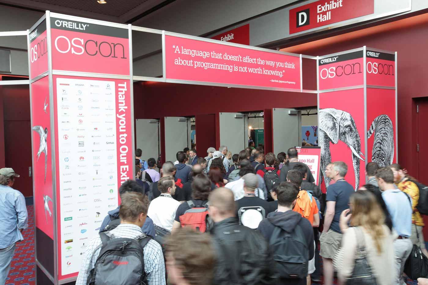 OSCON expo hall entrance