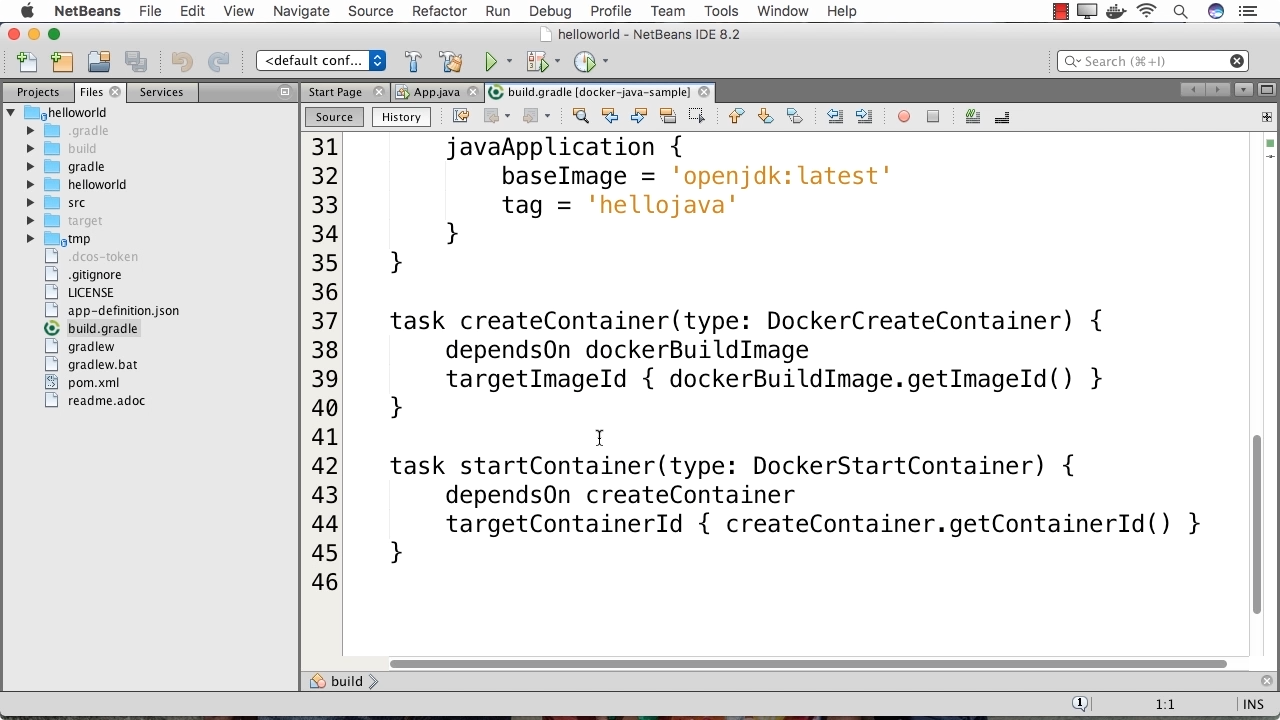 "Screen from ""How do I package my Java application as a Docker image using Gradle?"""