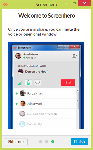 Collaboration tools support remote pairing, whether it's working late from home or in different places altogether.