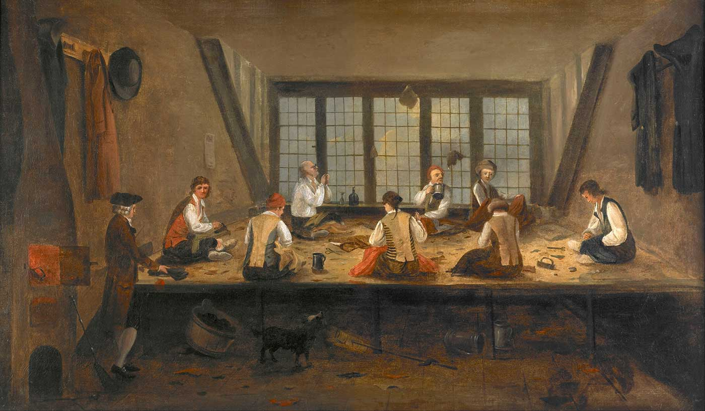 """""""Interior of a Tailor's Shop,"""" 1780."""