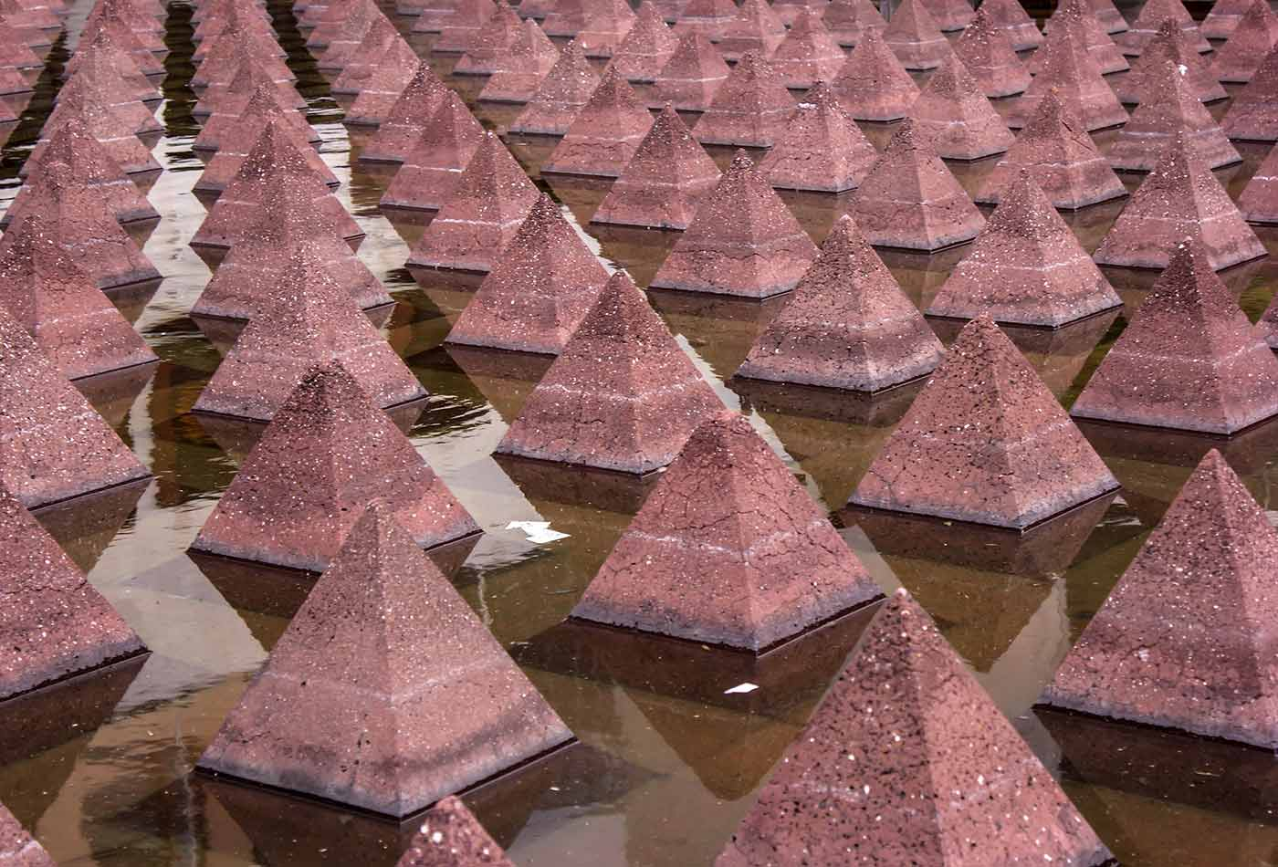 Pyramid pattern.
