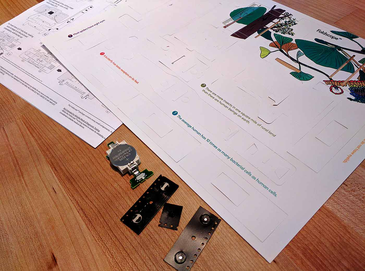 Foldscope parts