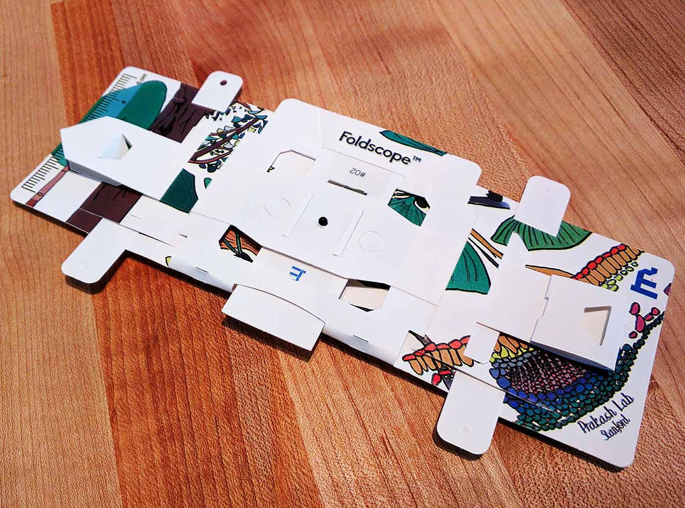 Foldscope assembled