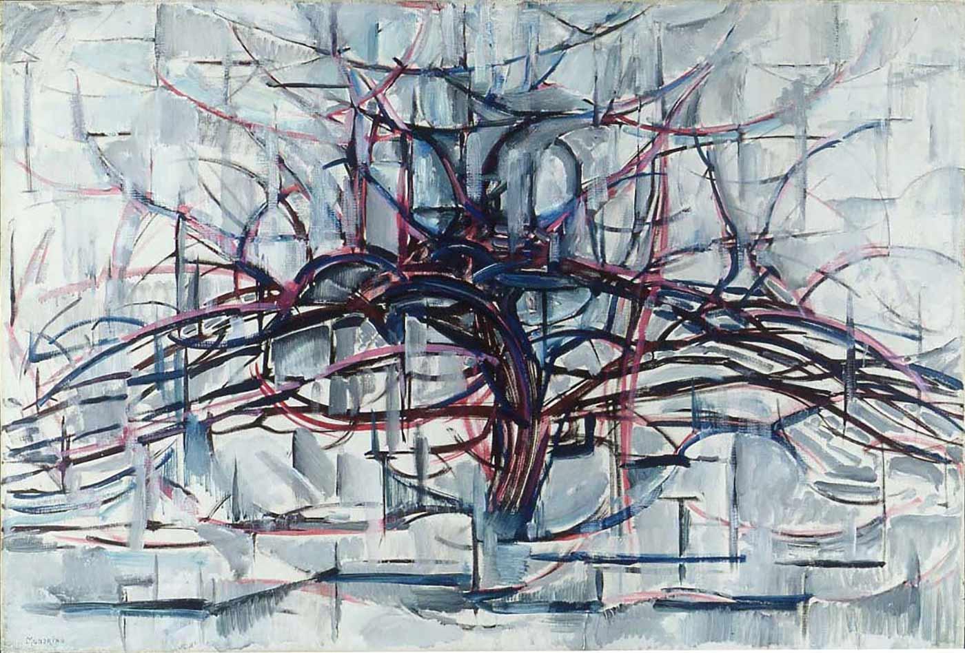 """Horizontal Tree,"" by Piet Mondrian, 1911."