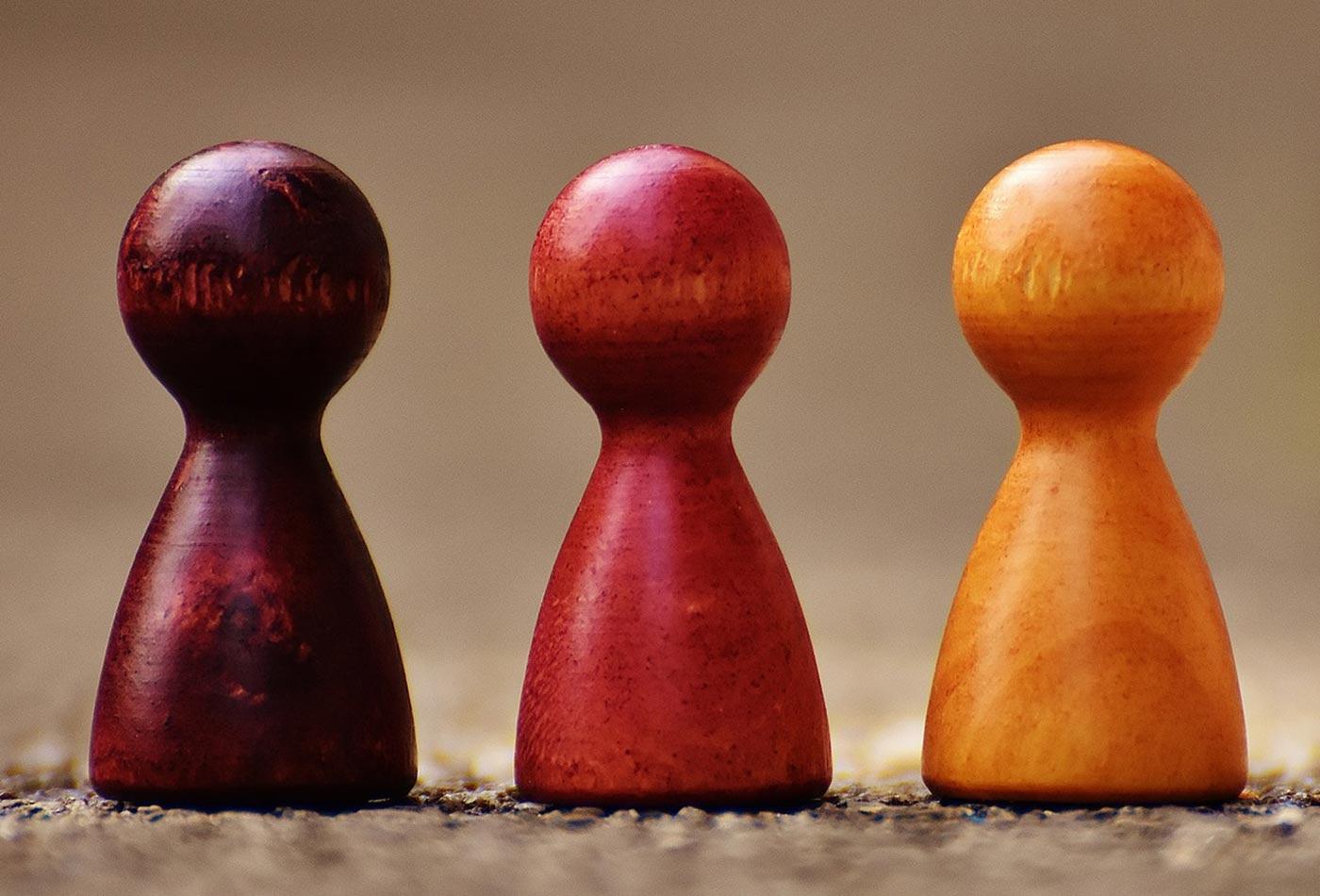 Wood figures.