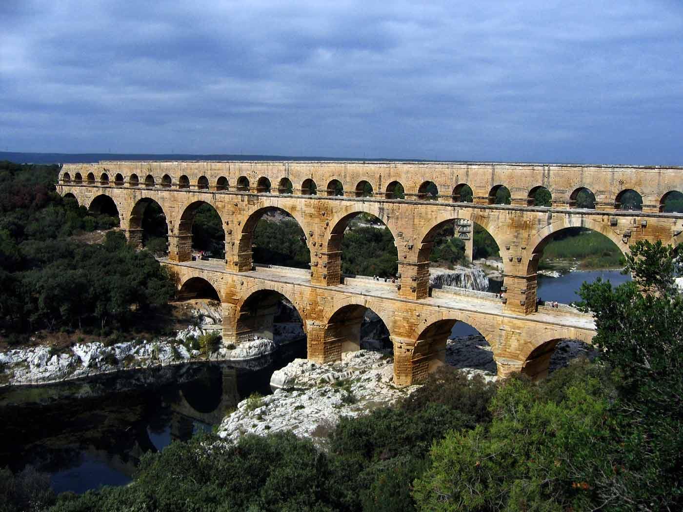 Pont du Gard, Roman Empire, October 2007