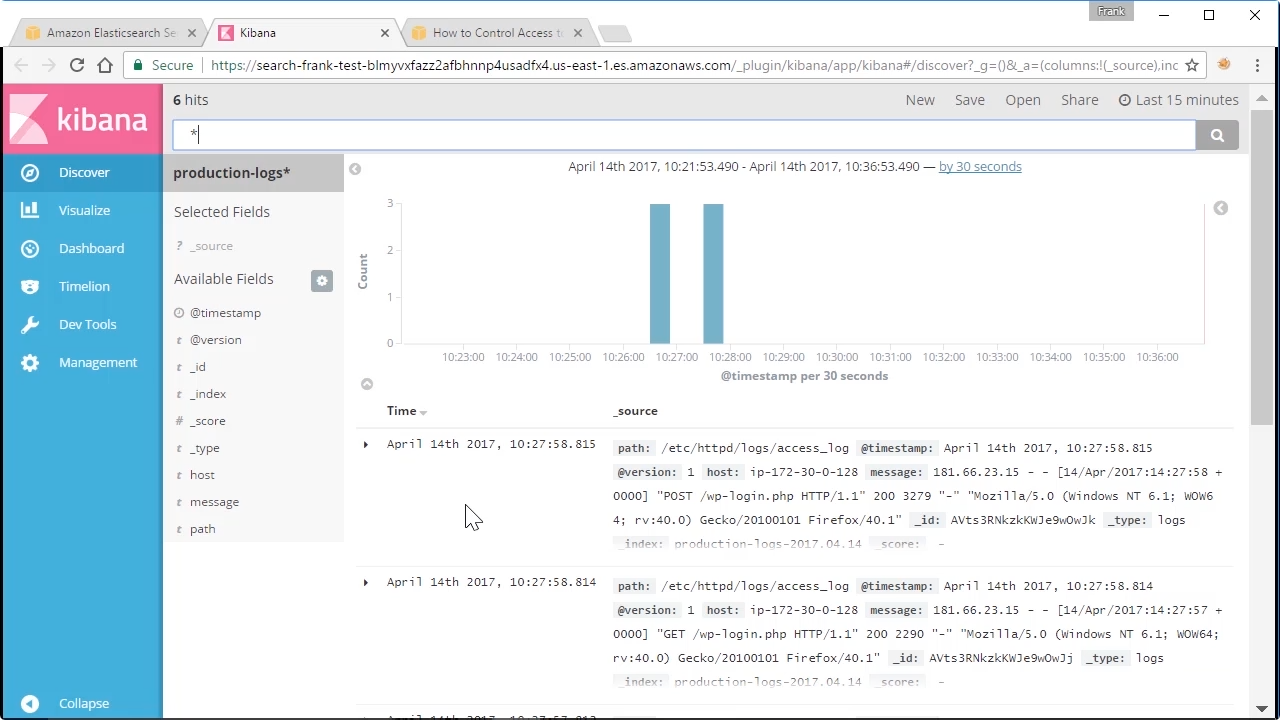 """Screen from """"How do I Connect to Kibana from Amazon's Elasticsearch Service (ES)?"""""""