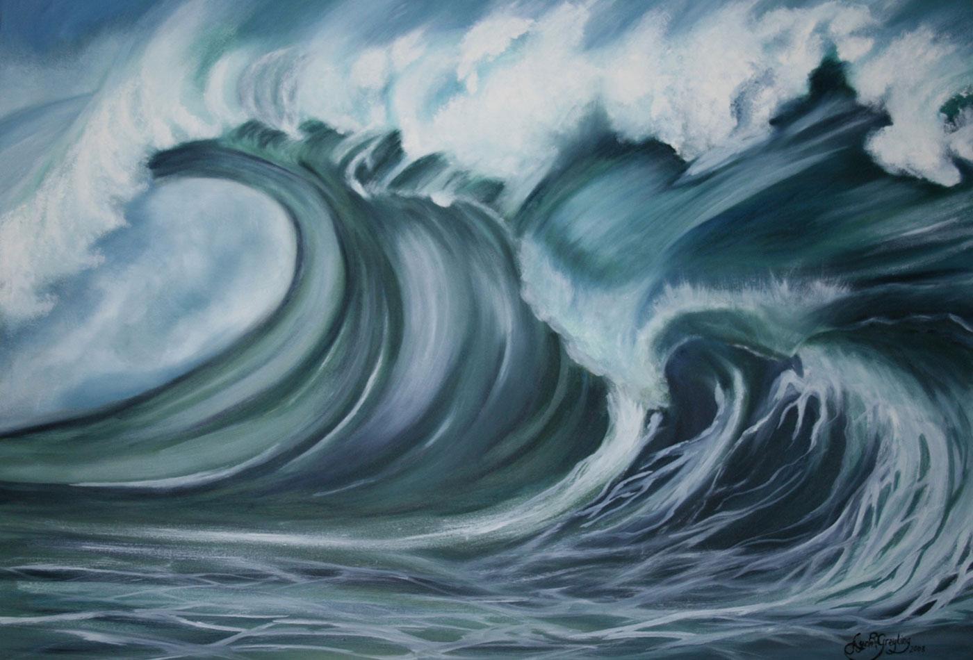 Powerful wave.