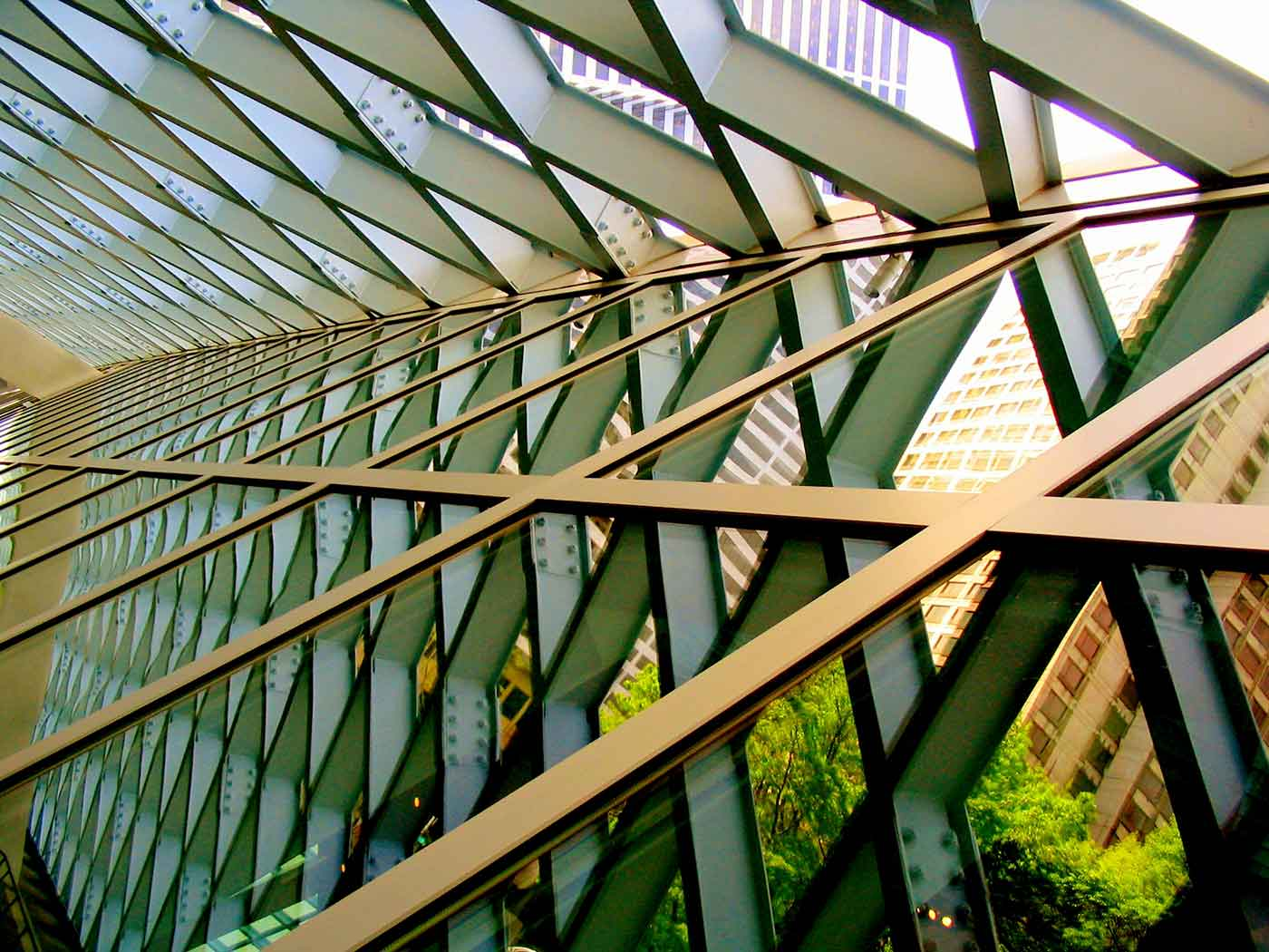 Framework inside the Seattle Public Library