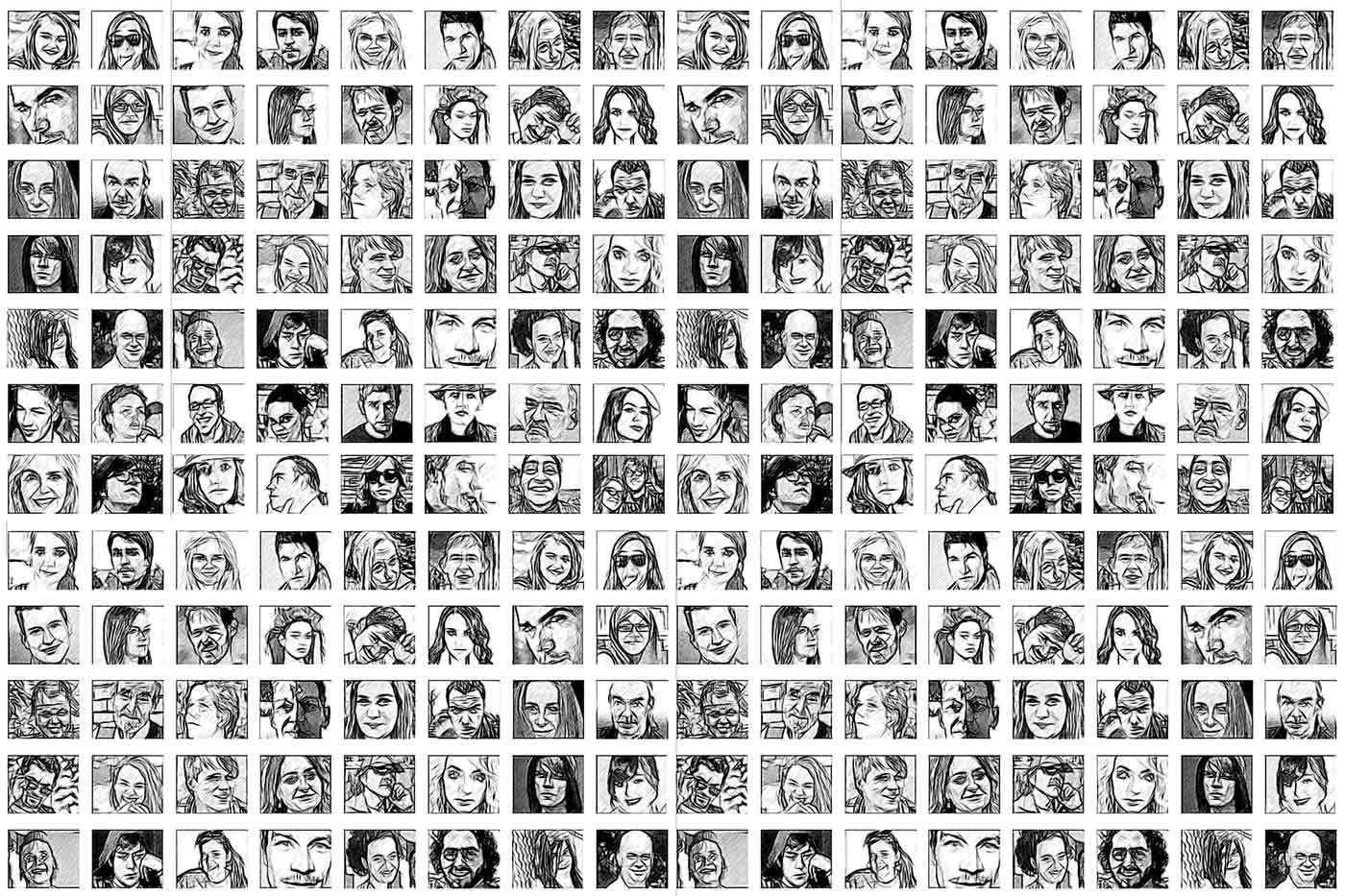Montage of faces