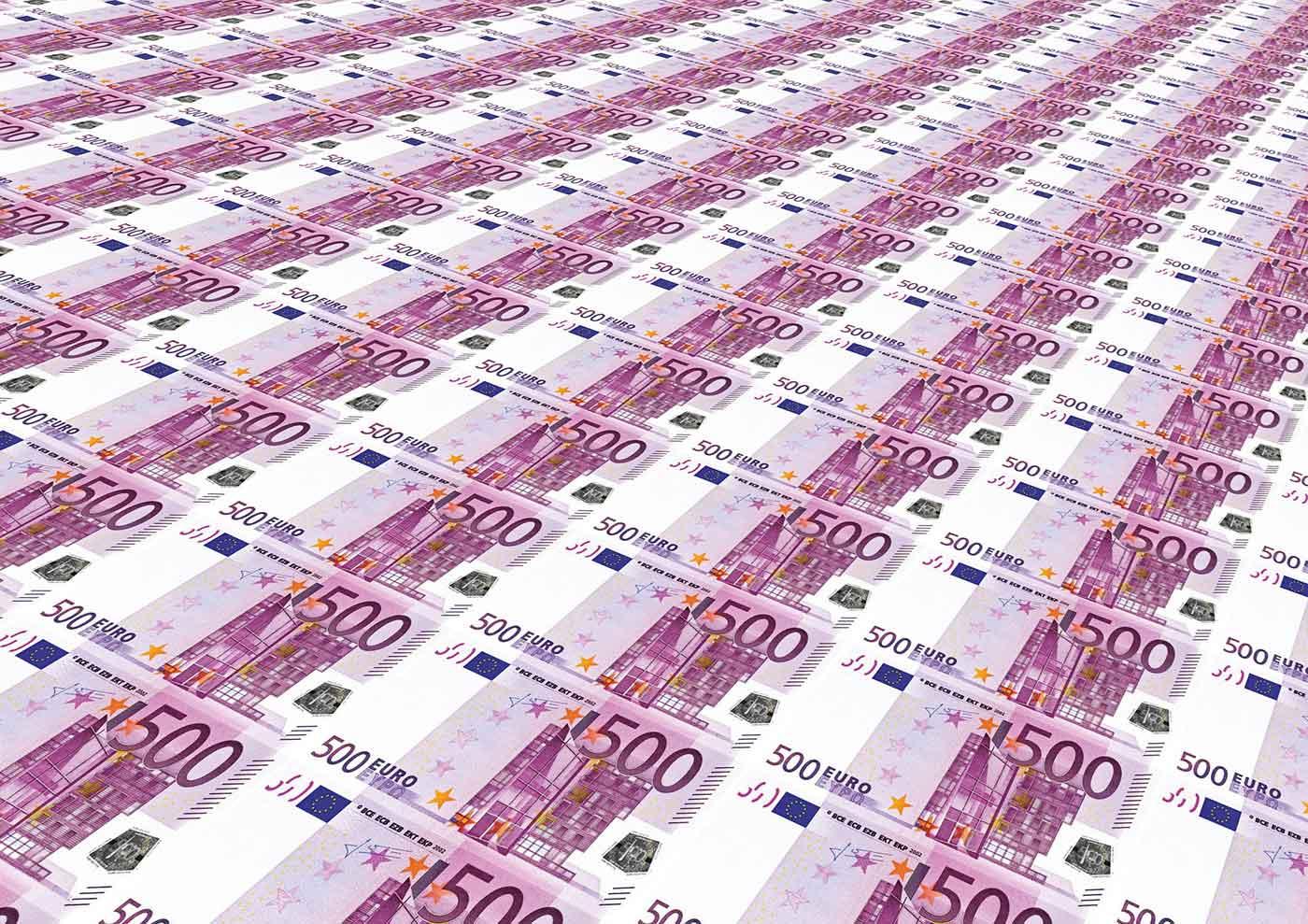 Sheet of euros