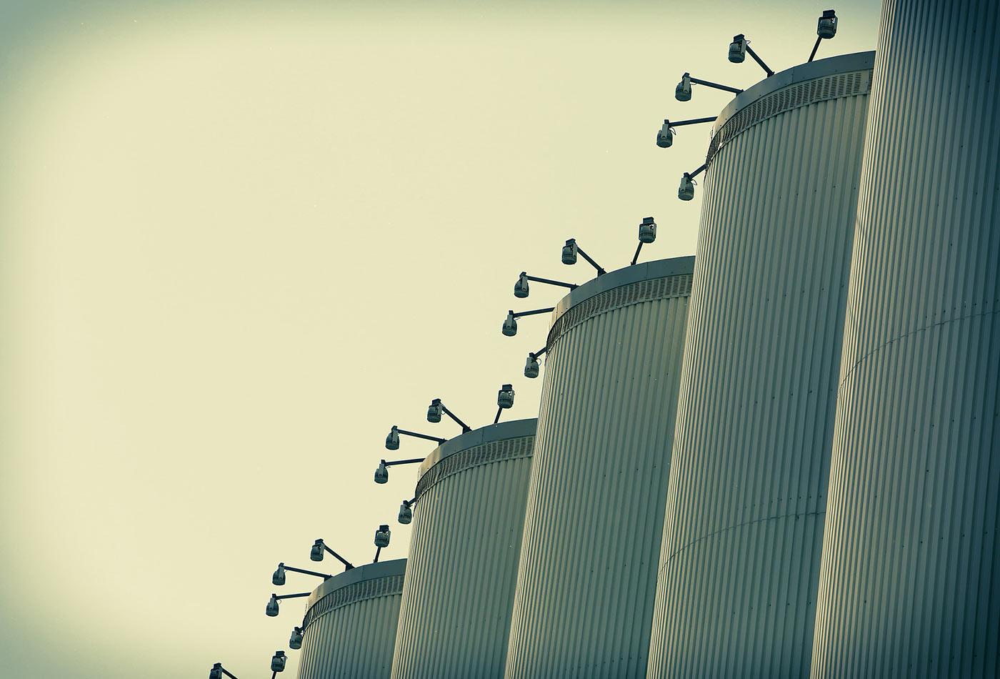 Storage silos.