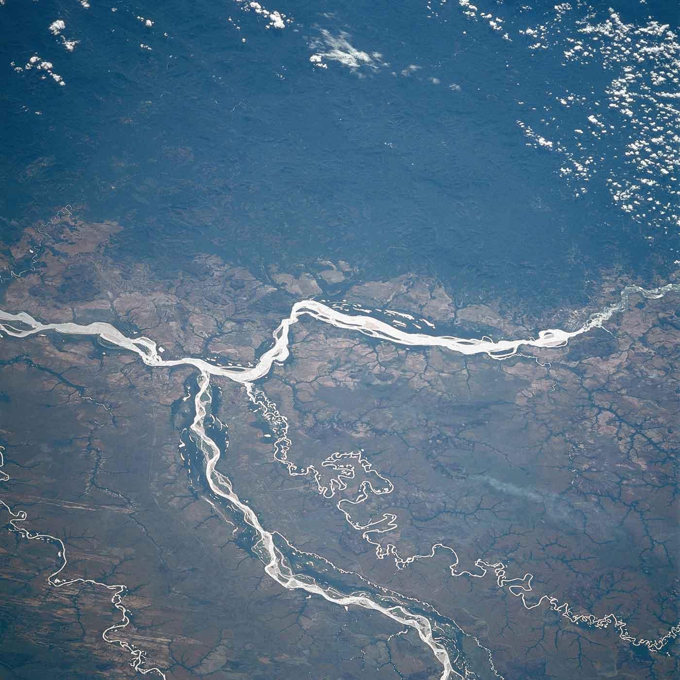 Orinoco, Meta Rivers, Colombia and Venezuela January 1986, by NASA
