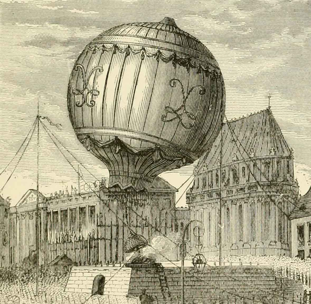 "Illustration from ""Wonderful ballon ascents"""