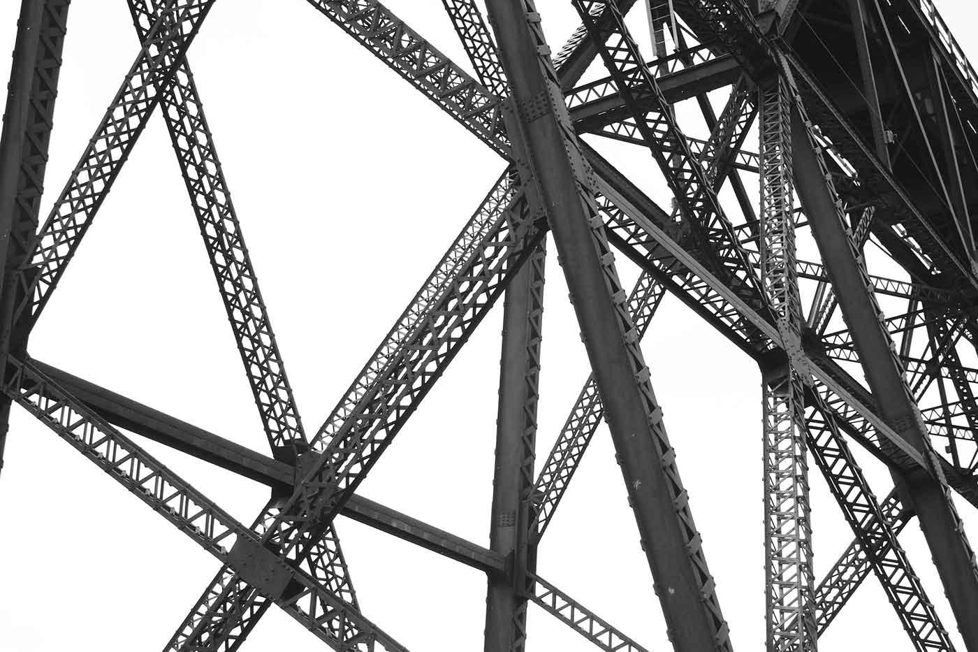 Railroad bridge beams