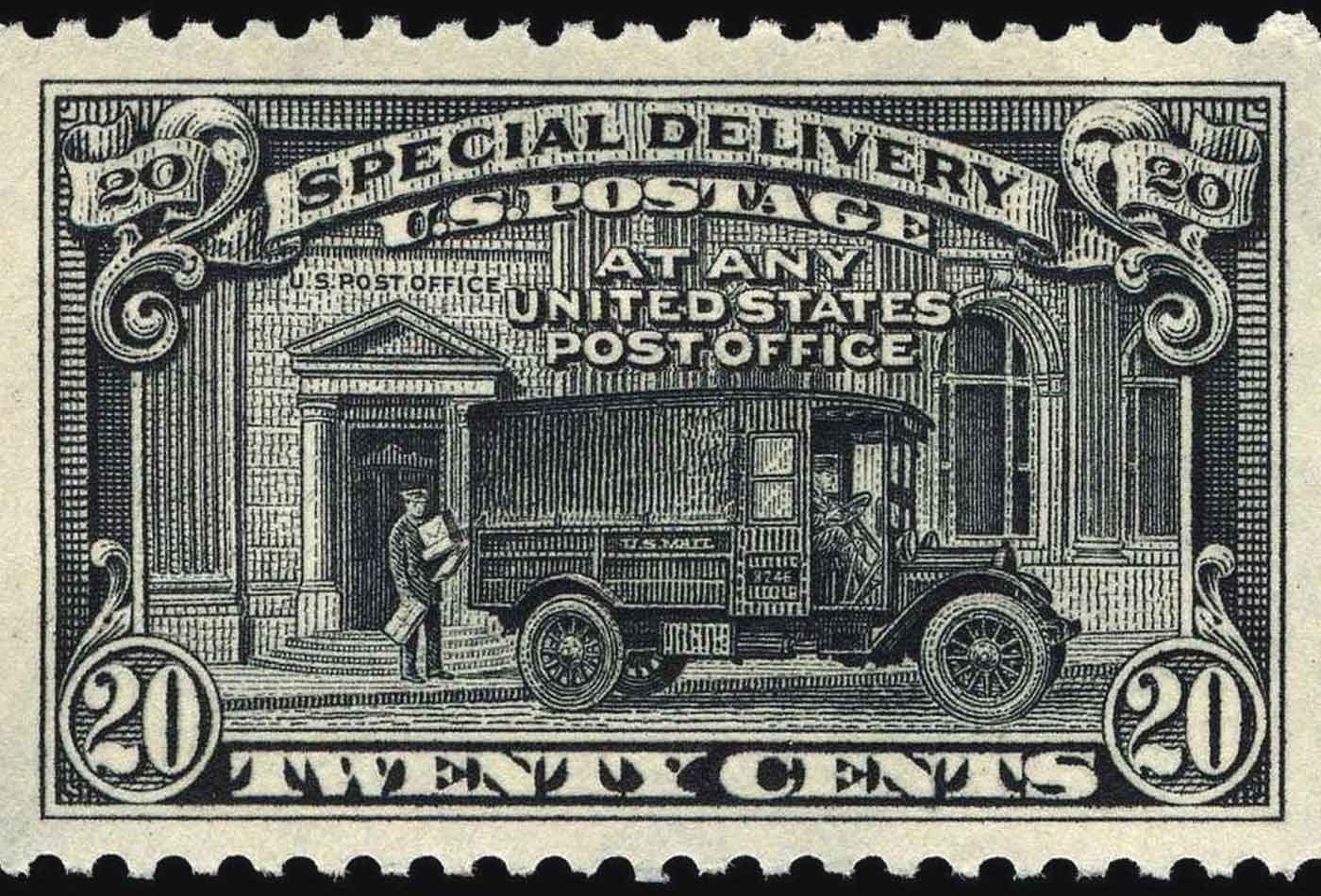 The 20-cent Special Delivery stamp, 1925.