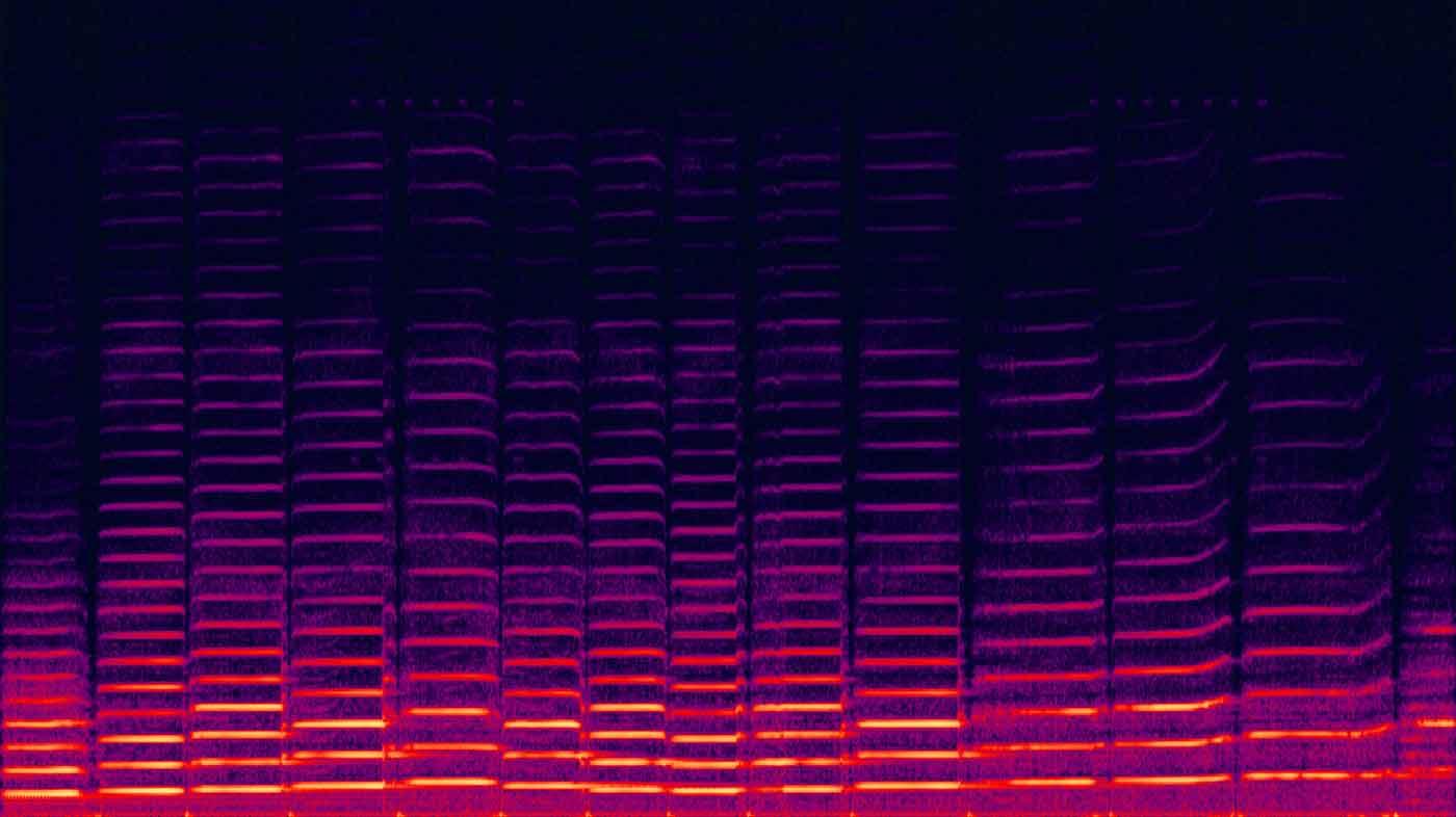 Spectrogram of violin