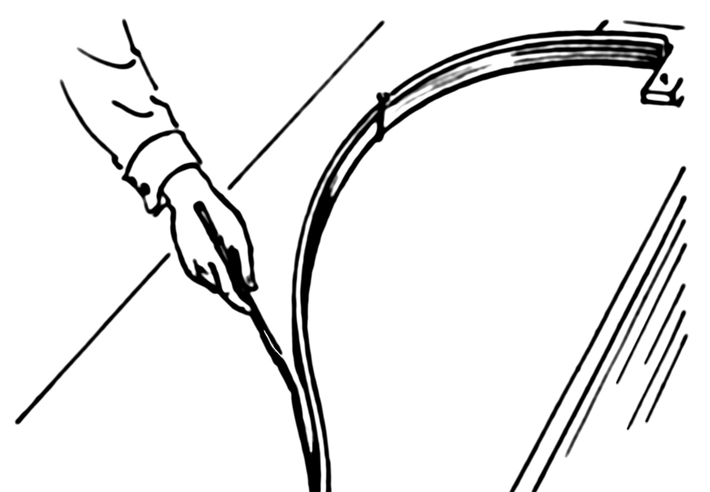 Line-art drawing of a spline.