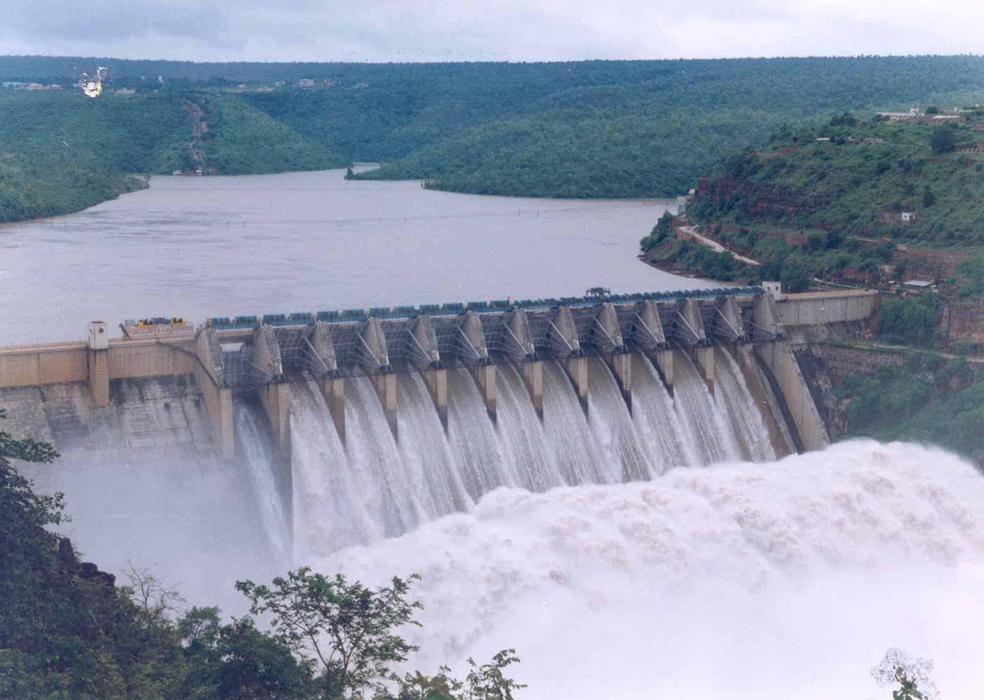 The Srisailam Dam in India.