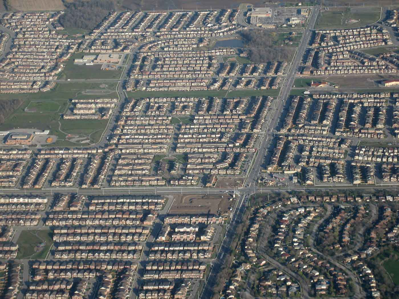 Suburban developments in Milton, Ontario