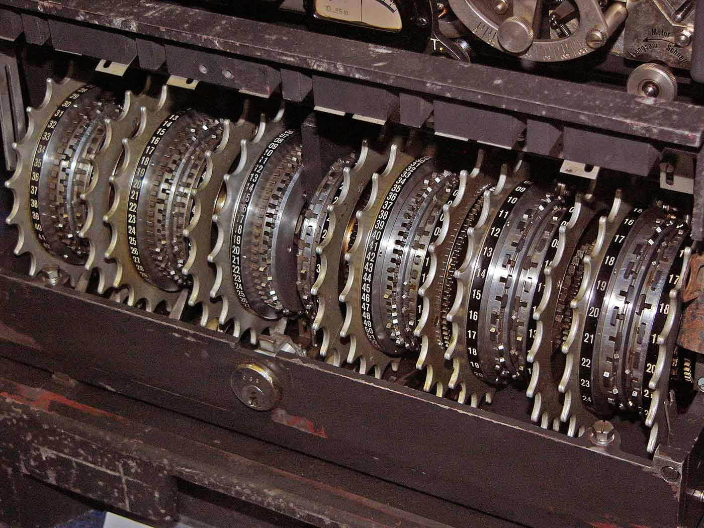 The Lorenz machine was used by the Germans to encrypt high-level teleprinter communications.