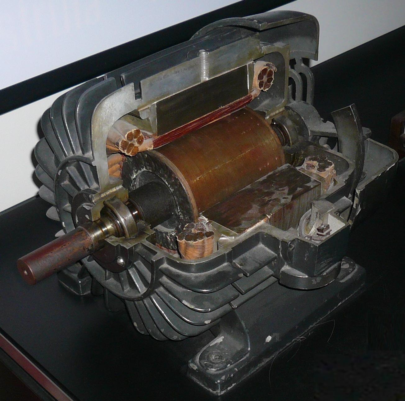 Tesla three-phase asynchronous motor
