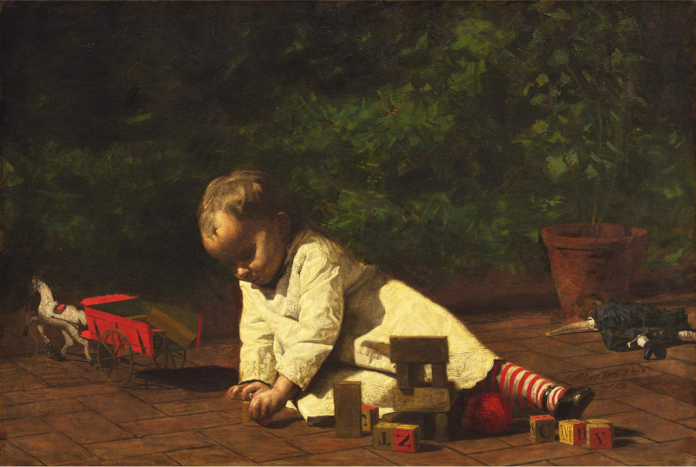 """""""Baby at Play"""" by Thomas Eakins, 1876"""
