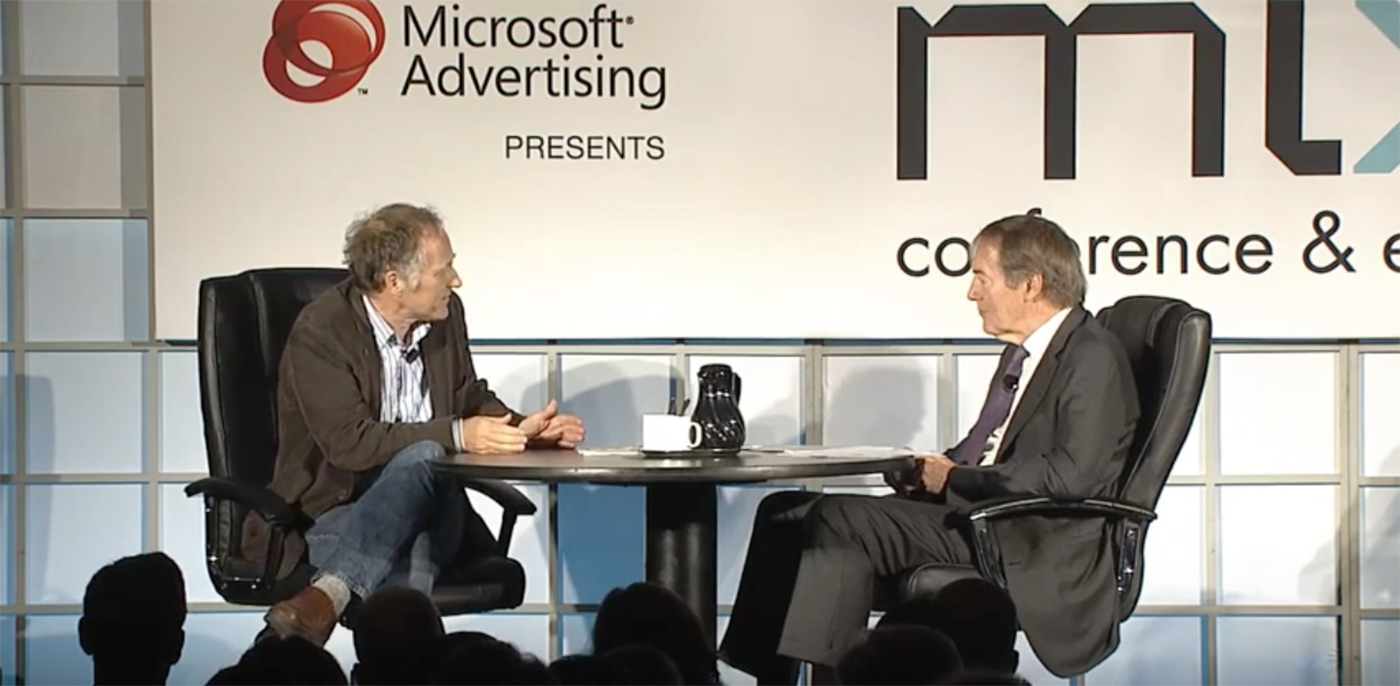 Tim O'Reilly and Charlie Rose at IAB Mixx 2011.