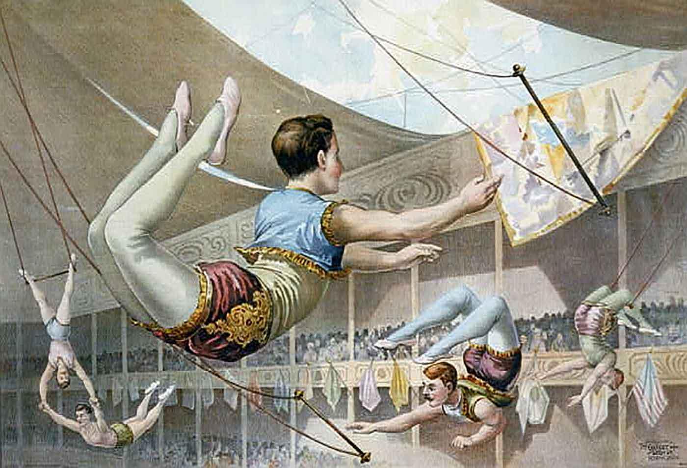Trapeze artists 1890