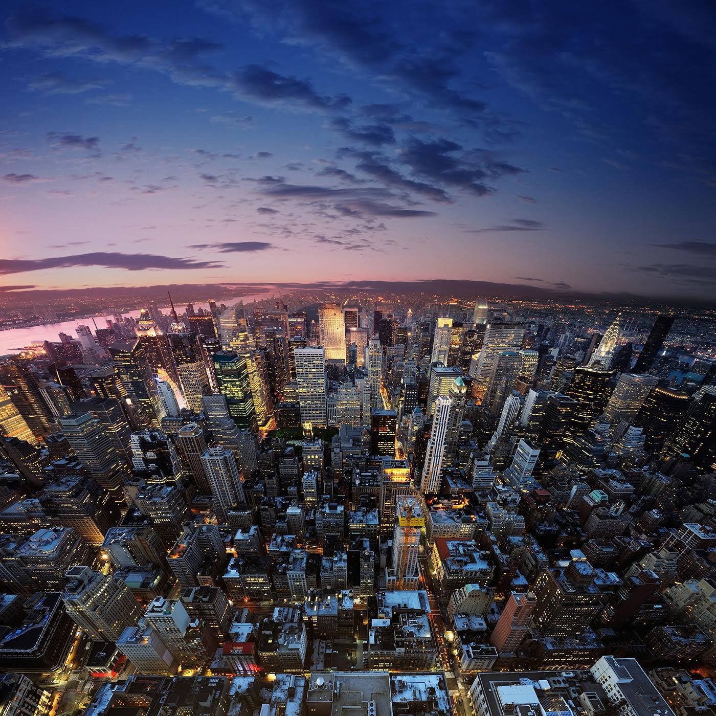 New York skyline at dusk - AI NY 2016