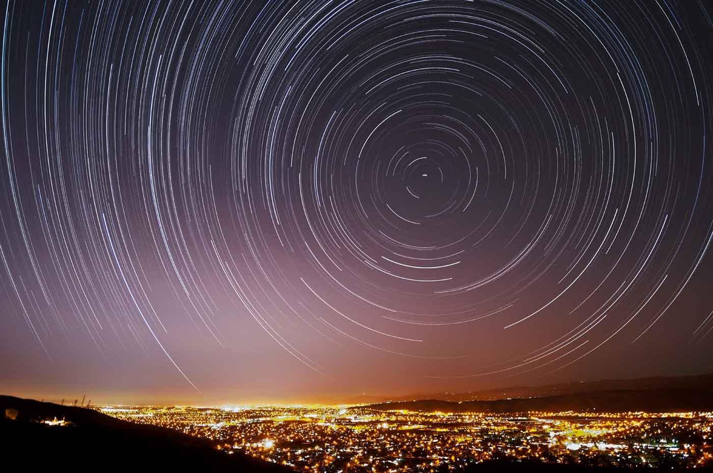 Night sky with swirling stars - Velocity in Santa Clara 2016
