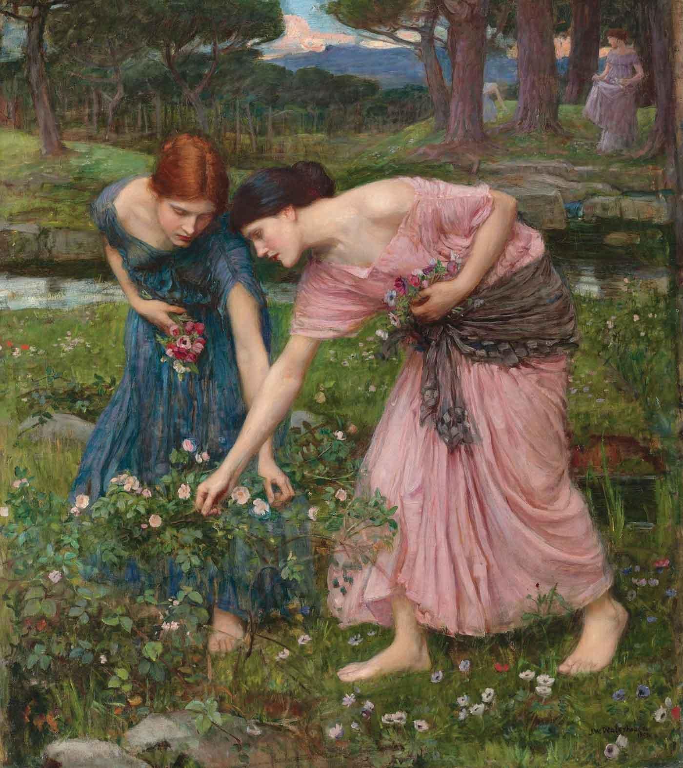 Gather Ye Rosebuds While Ye May, by J.W. Waterhouse