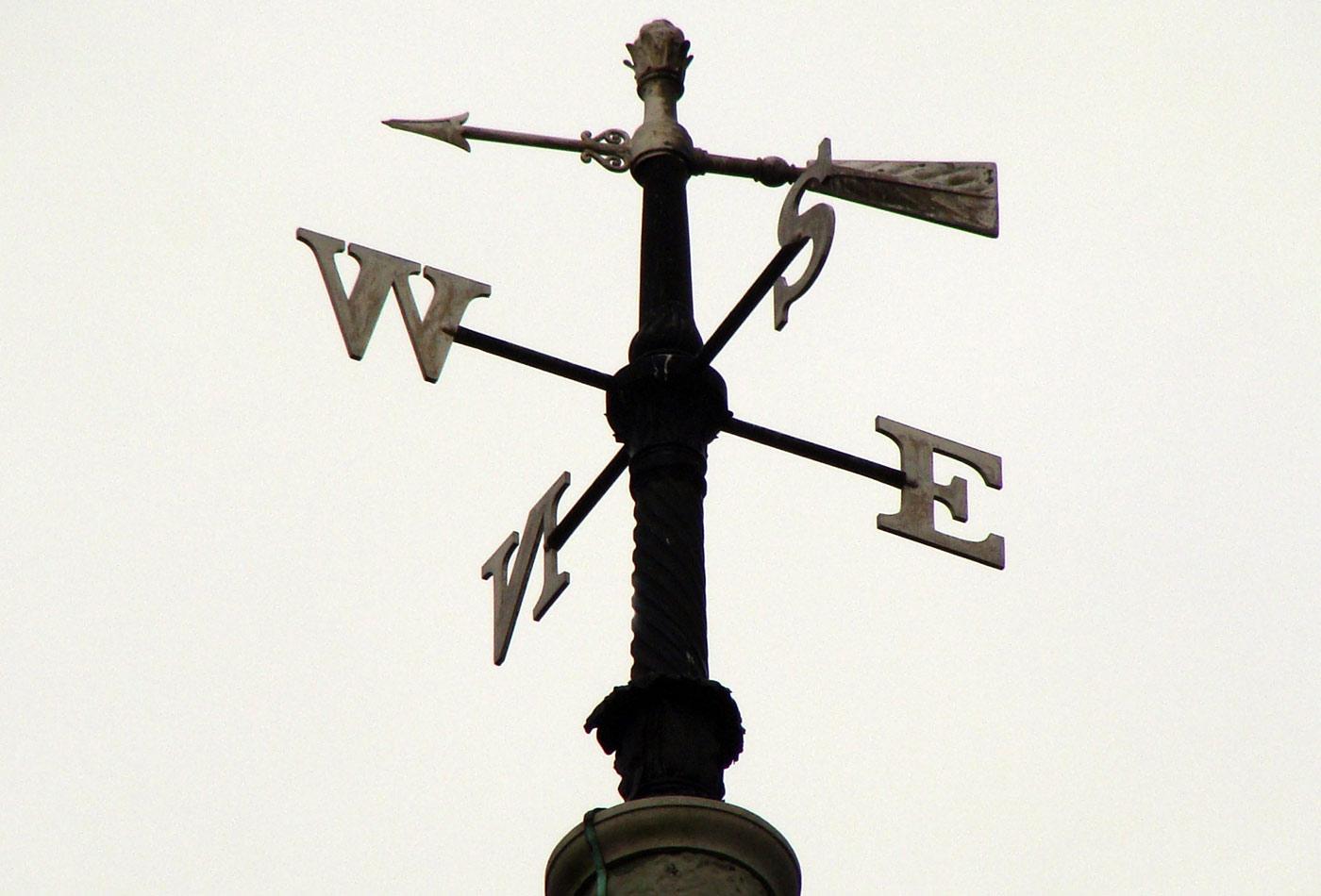 18th century wrought iron weathervane on Holy Trinity Church, Marylebone Road, London