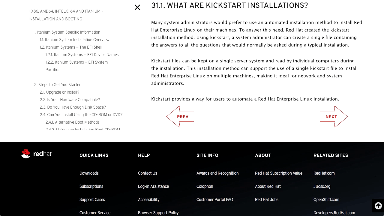 """Screenshot from """"What is a Kickstart installation and why would you use it?"""""""