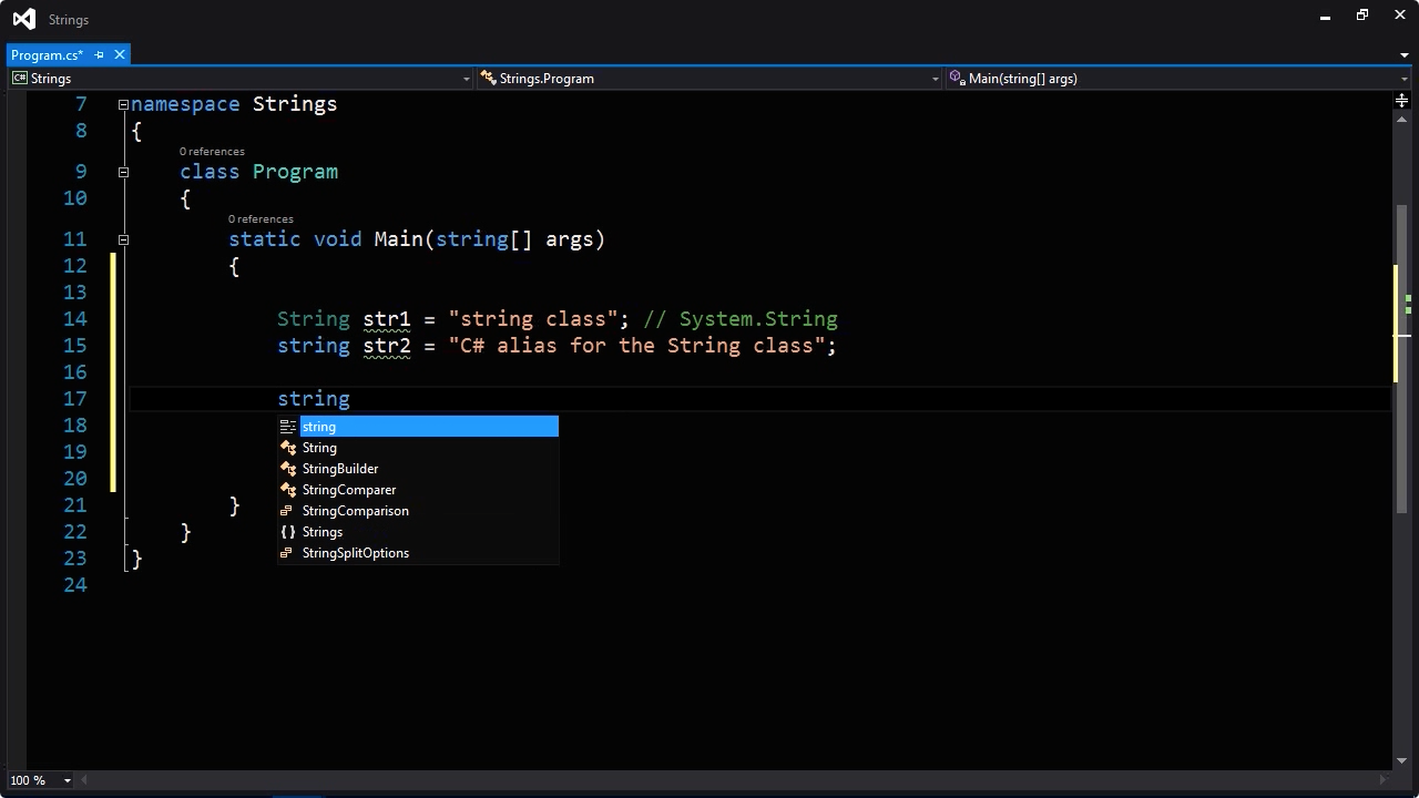 """Screenshot from """"What is the difference between String and string in C#?"""""""