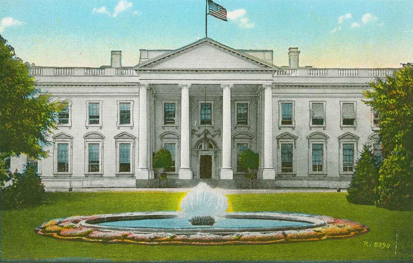 Illustration of the White House Washington D.C.